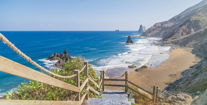 Weg zum Strand Playa de Benijo