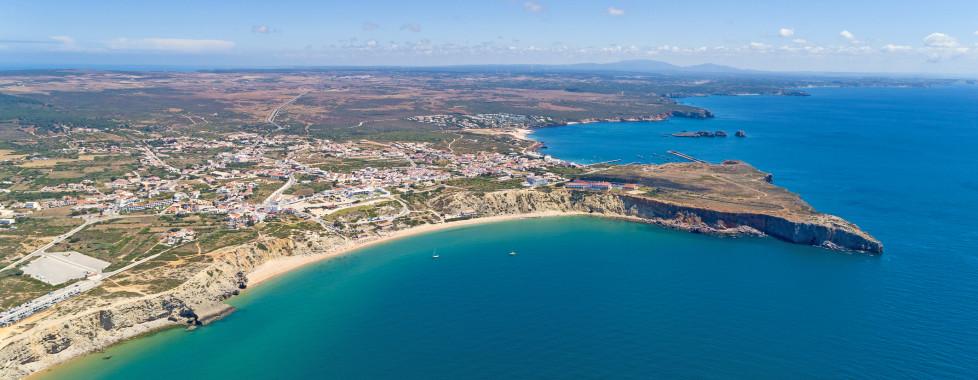 Vue sur Sagres et la plage Mareta