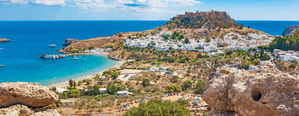 Fantastischer Ausblick auf Lindos und die berühmte Akropolis