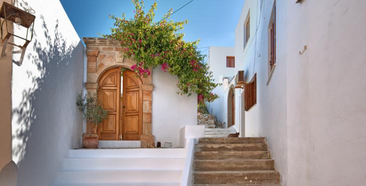 Rue traditionnelle à Lindos
