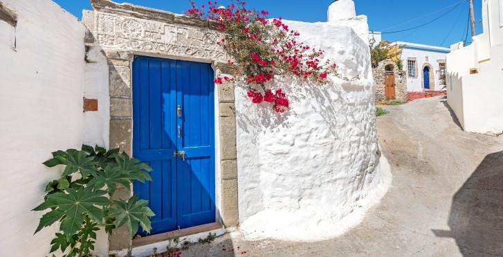 Lachania avec ses maisons blanches typiques