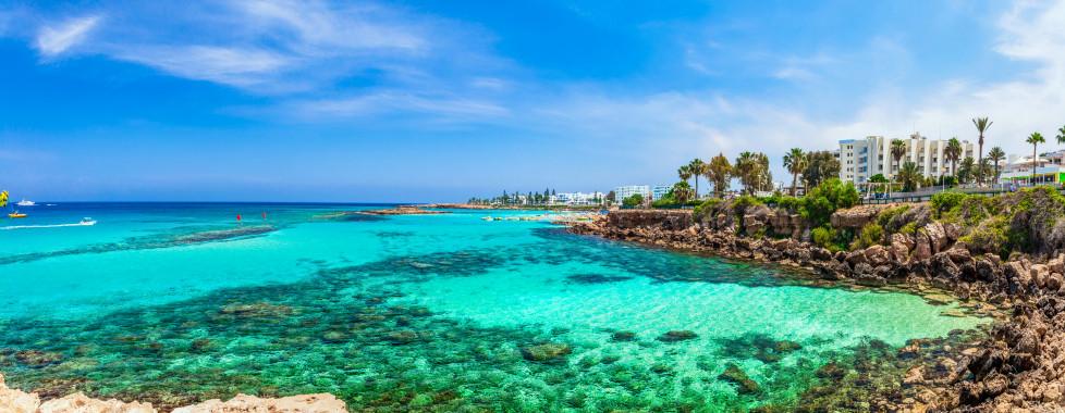 Traumhafter Ausblick auf Protaras und dem Fig Tree Beach