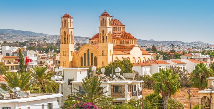 Blick auf die Kirche Agioi Anargyroi