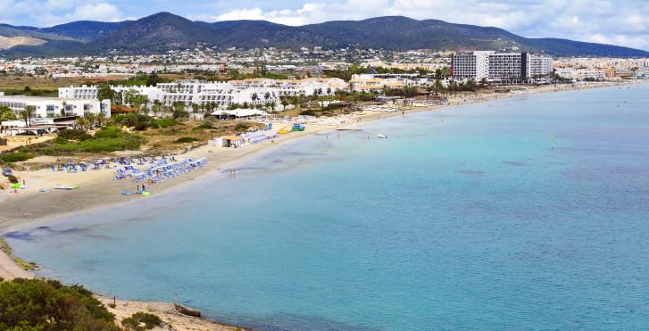 Blick auf Playa d'en Bossa