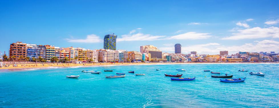 Berühmter Strand Playa de Las Canteras