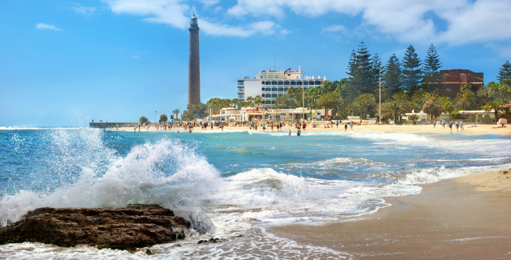 Leuchtturm am Playa de Maspalomas
