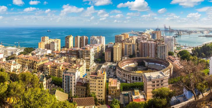 Malaga vue d'en haut