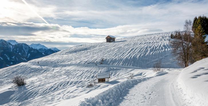 Langlaufstrecke im Winter