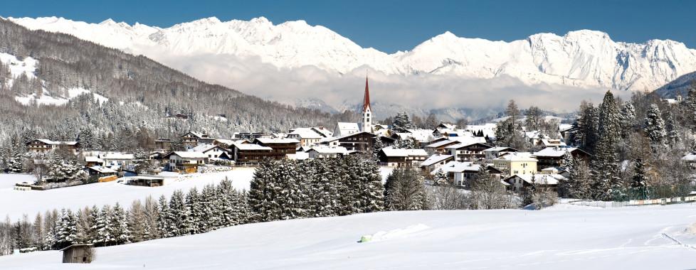 Mieders en hiver © TVB Stubai Tirol
