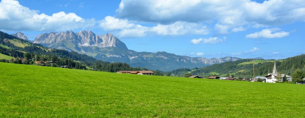 Blick auf Reith bei Kitzbühel