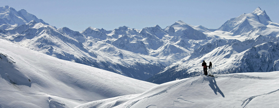 © Leukerbad Tourismus. Skifahren in Leukerbad.