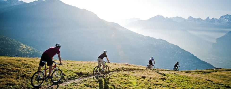 Randonnée à vélo à Veysonnaz © lafouinographe