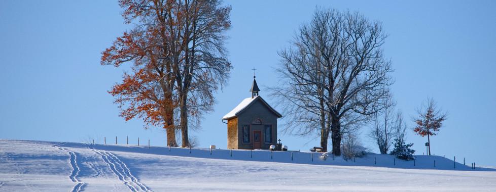 Paysage hivernale près d'Oberstaufen
