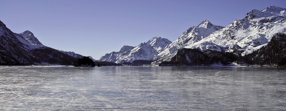 Lac de Silvaplana en hiver