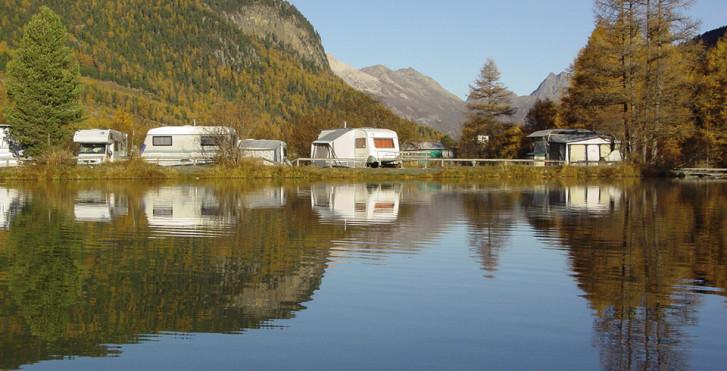 Camping Plauns © Photo: Albert Bruelisauer / Pontresina Tourismus