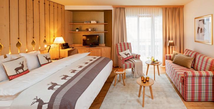 Chambre double Alpenchic - Hôtel Piz Buin - été remontées incl.