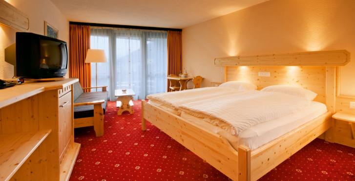 Chambre double Sud - Club-Hotel Davos – forfait ski avantageux