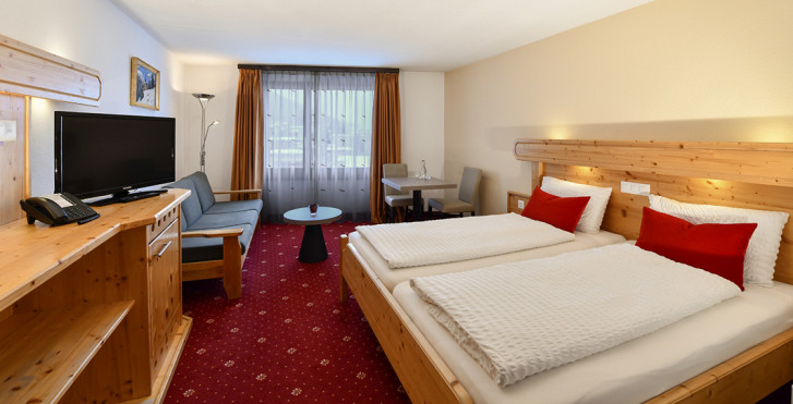 Chambre double - Club-Hotel Davos – forfait ski avantageux