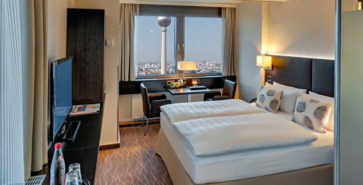 chambre double - Park Inn by Radisson Berlin Alexanderplatz