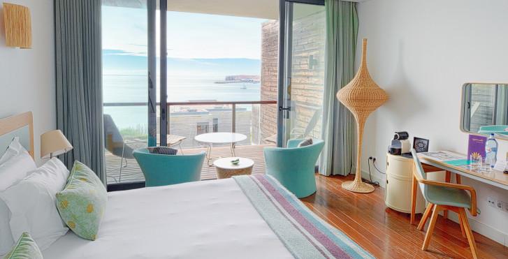Doppelzimmer mit seitlicher Meersicht - Martinhal Sagres Beach Family Resort
