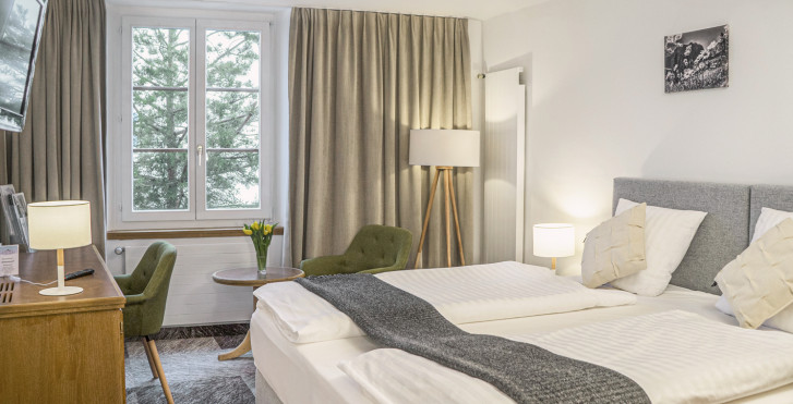 Doppelzimmer Hotel De France - Thermalhotels & Walliser Alpentherme
