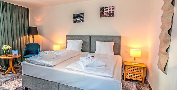 Chambre double Hôtel De France - Thermalhotels & Walliser Alpentherme