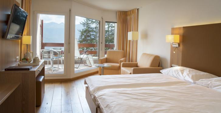 Chambre double Superior - Helvetia Intergolf - hôtel - été, remontées mécaniques incl.