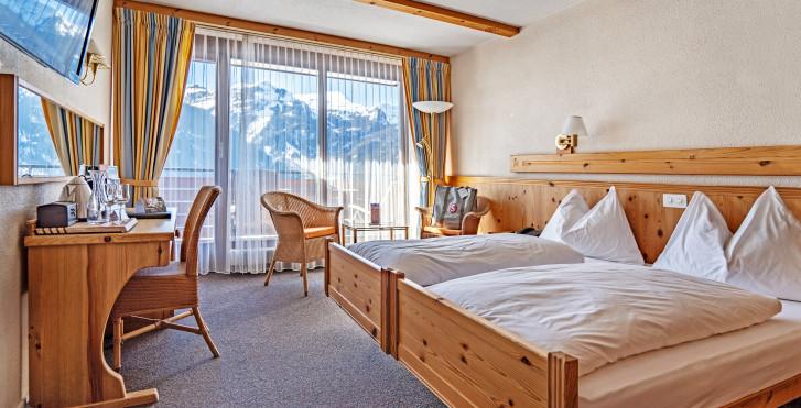 Chambre Double Tal - Sunstar Hotel Wengen