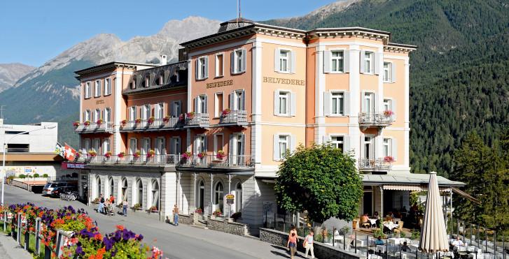 Hôtel Belvédère (avec abo-ski (hiver)/remontées mécaniques (été) et Bad Scuol)