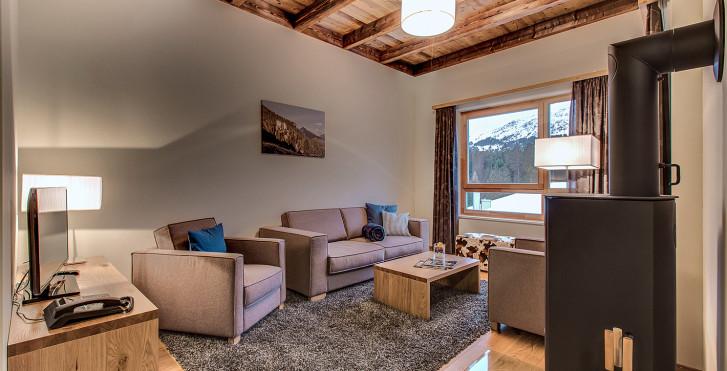 4-Zimmer-Chalet-Appartements Superior - Privà Alpine Lodge Lenzerheide