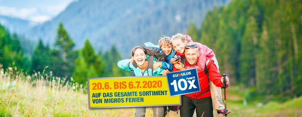 Familienferien in der Schweiz 10x Cumulus-Punkte