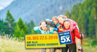 Familienferien in der Schweiz 5x Cumulus-Punkte