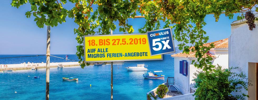 Sommer Katalog 2019 Migros Ferien 5x Cumulus-Punkte