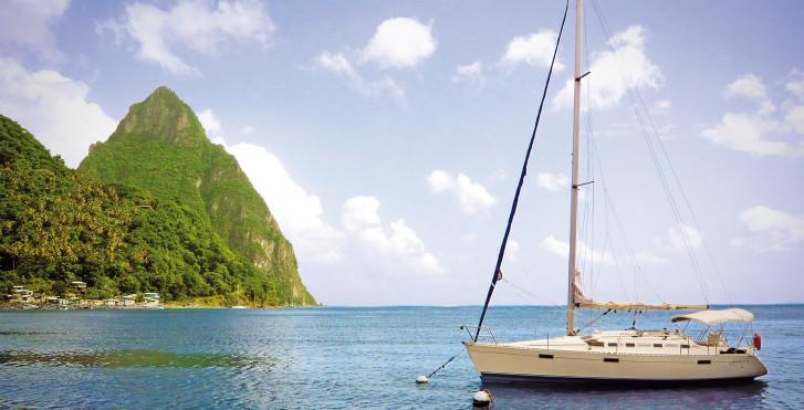 Segeln, St. Lucia Karibik