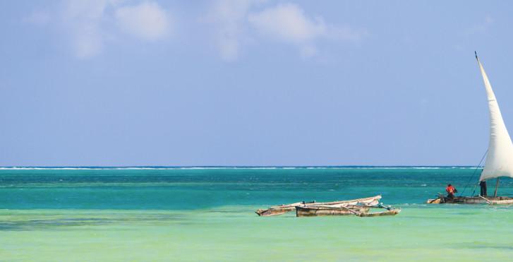 Türkisblaues Meer, Sansibar