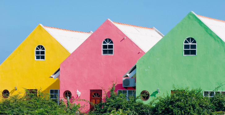 Maisons colorées, Curaçao