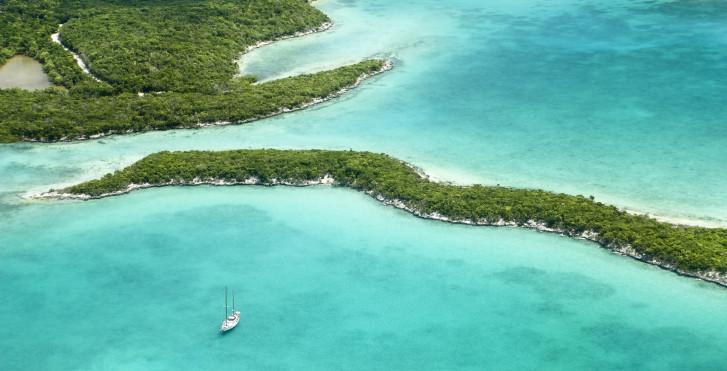 Great Exuma von oben, Bahamas