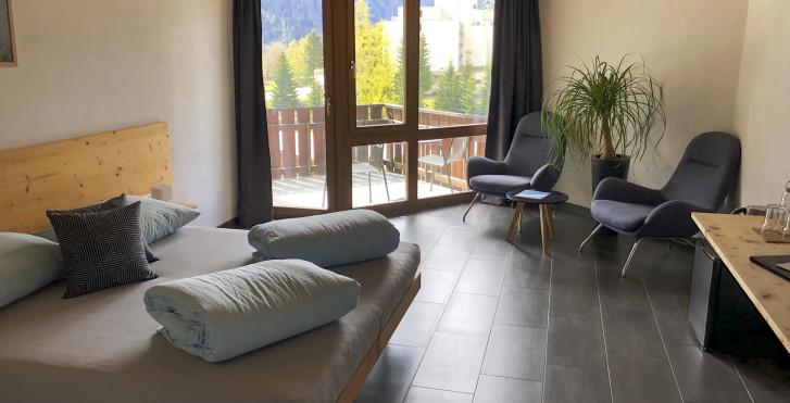 Chambre double - Hôtel Catrina, hiver comprenant abo-ski