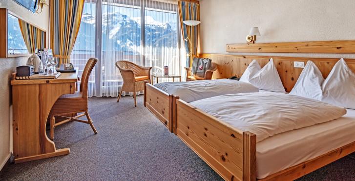 Doppelzimmer Tal - Sunstar Hotel Wengen