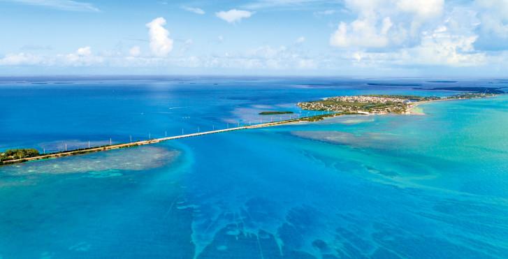 Overseas Highway von oben, Florida Keys