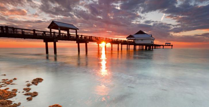Coucher de soleil, Clearwater