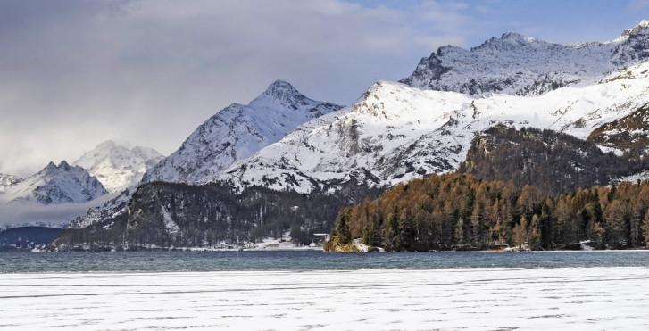 Lac de Sils en hiver