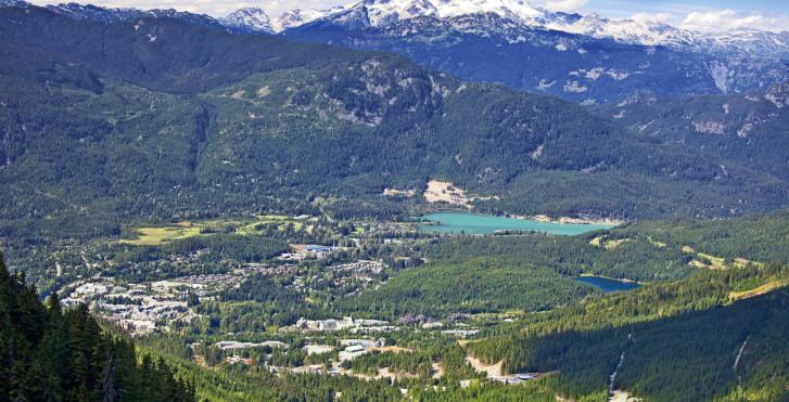 Whistler vue d'en haut