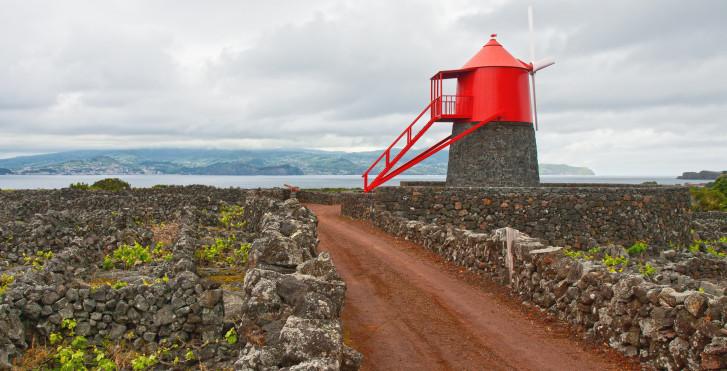Moulin à vent rouge, Pico, Açores