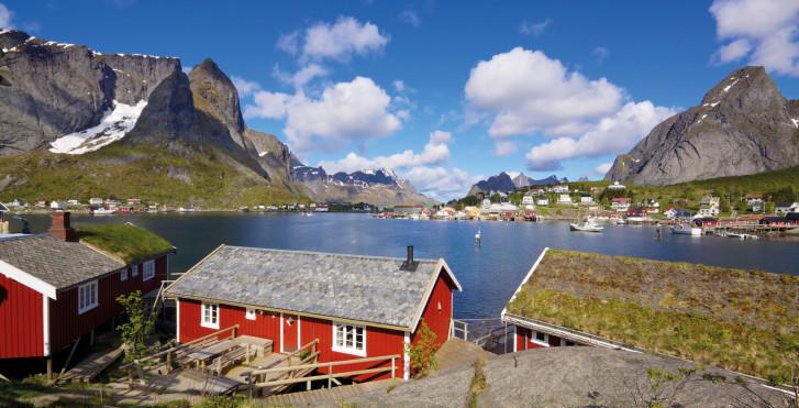 Typische Häuser, Norwegen