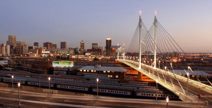 Johannesburg bei Nacht