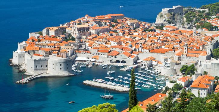 Dubrovnik vue d'en haut