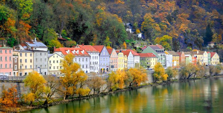 Flussufer, Passau