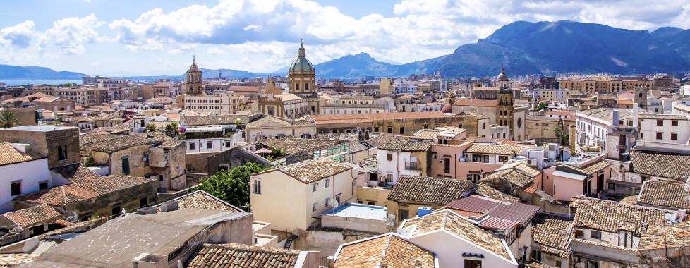 Vue sur les toits de Palerme