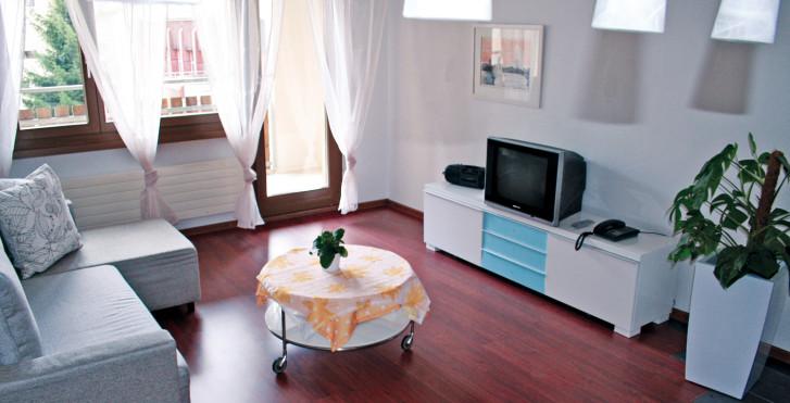 Wohnbeispiel (je nach dem Geschmack der Eigentümer). - Aparthotel Disentiserhof